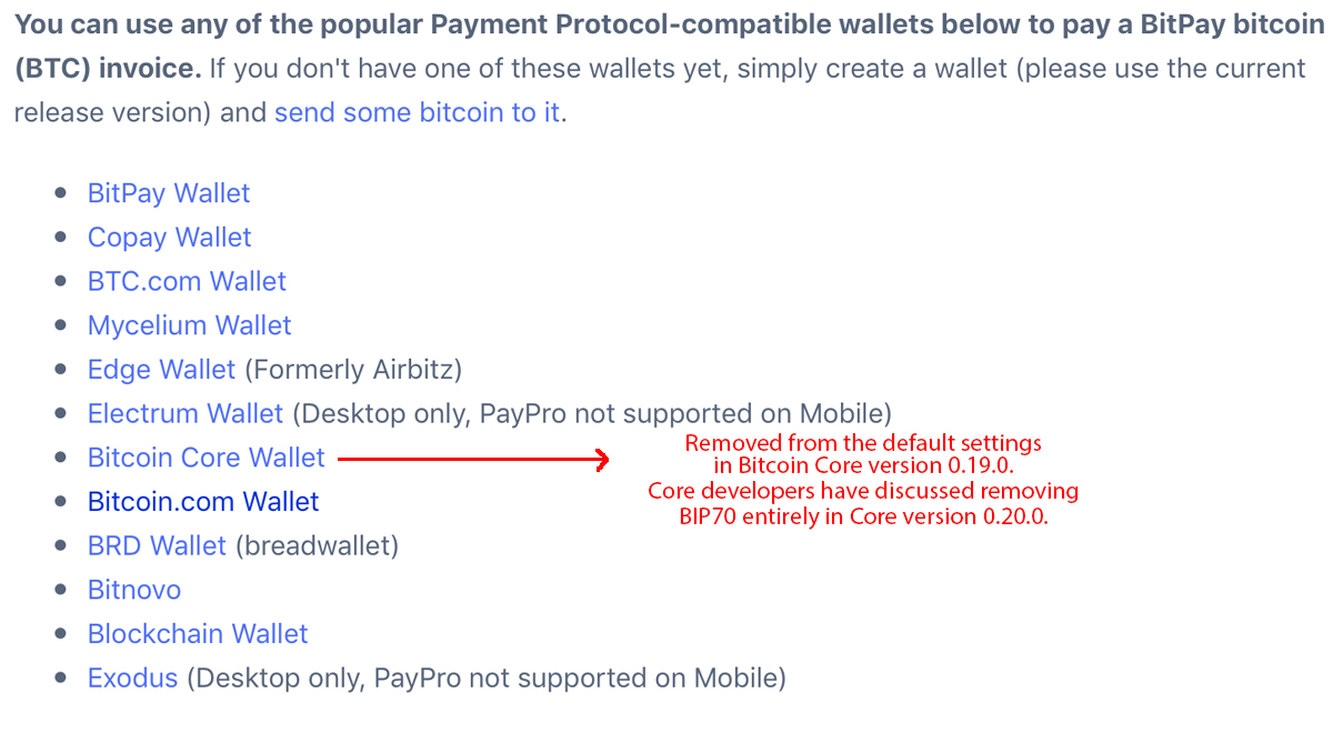 Devs Remove BIP70 Payment Protocol From Bitcoin Core's Default Settings