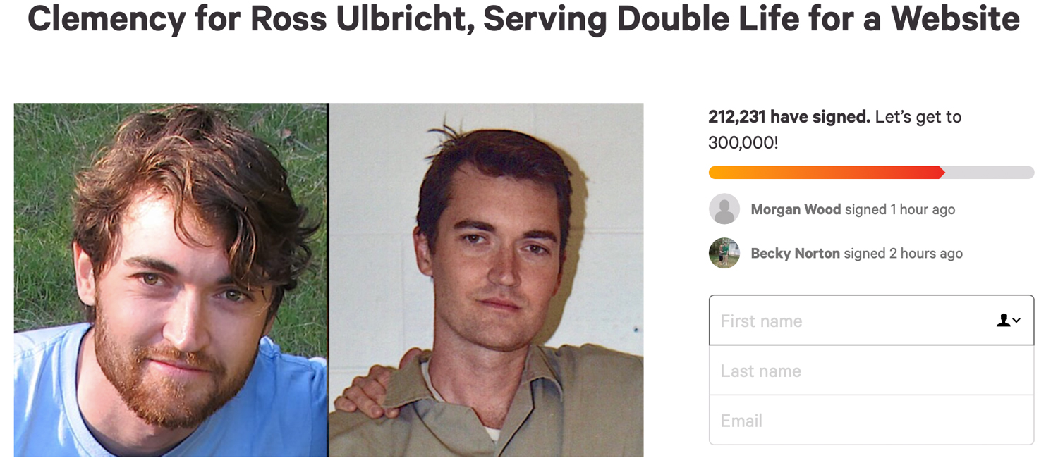 200,000 People Have Signed Ross Ulbricht's Clemency Petition