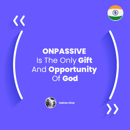 God does not come to give crores of money to anyone, but yes, 'he must give Opportunity to earn crores of Dollars...